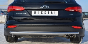 Hyundai Santa Fe 2012- Защита заднего бампера d63 (дуга)  HSFZ-001225